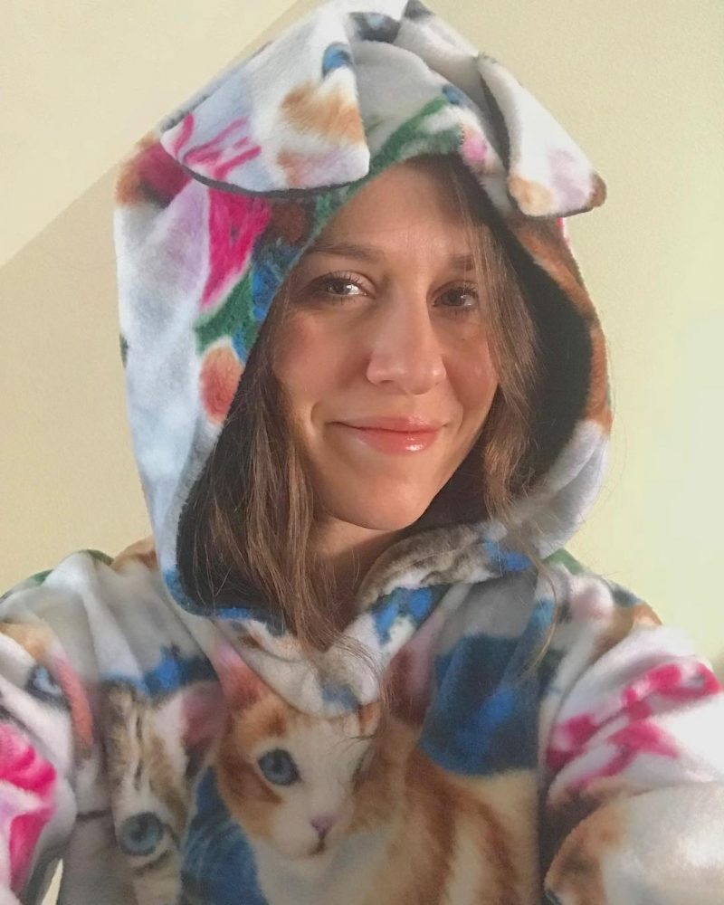 My bfs sister made me this cat hoodie and ithellip
