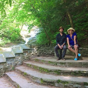 Two of my favorite people // Hiking Buttermilk Falls in…