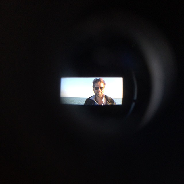 The director through the director's viewfinder. #indiefilm