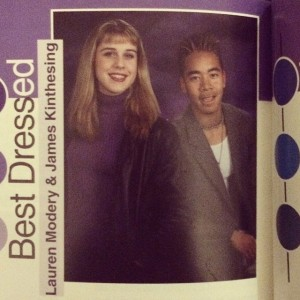 #tbt Remember the time when frosted hair, purple turtleneck sweaters…