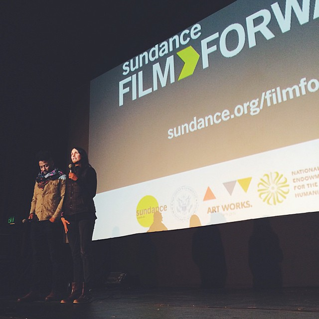 Filmmaker Malik Vitthal and #Sundance @FilmForward director Meredith Lavitt introducing Vitthal's film #ImperialDreams.