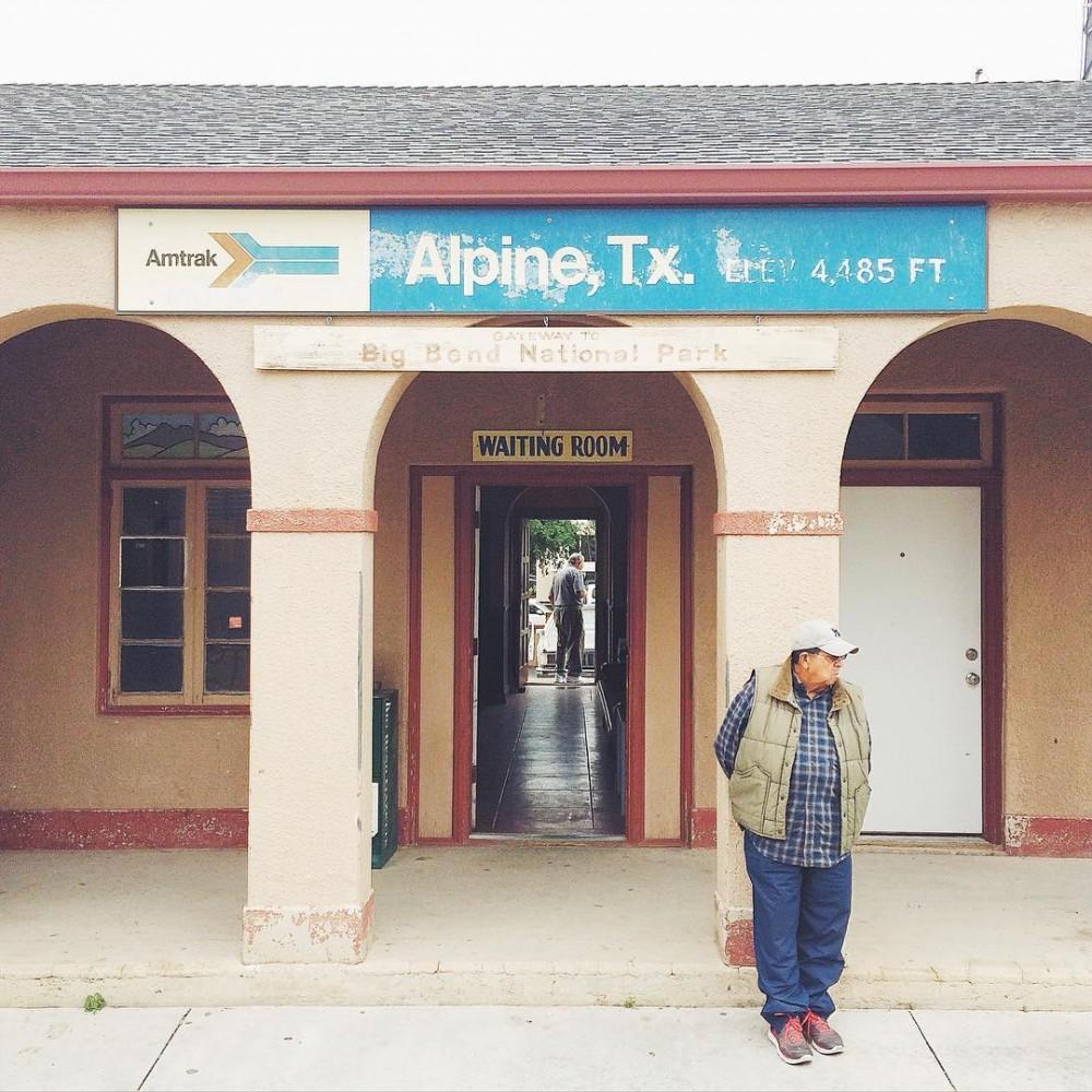 Train stop in Alpine Texas traintravel Amtrak WestTexas