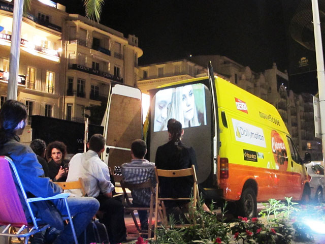 cannesinavan Ten Best Pop Up Movie Theaters Around the World  pop culture film featured austin  Thailand Texas ten best pop up movie theaters Rooftop Films Rolling Roadshow pop up movie theaters pop up movie screenings On the Way screenings Moscow London Hollywood Forever Cemetery screenings floating cinema Films on Fridges Film on the Rocks Yao Noi featured Cycle In Cinema Cinespia Cinema East Cannes in a Van Brooklyn Bike In Theater austin Alamo Drafthouse