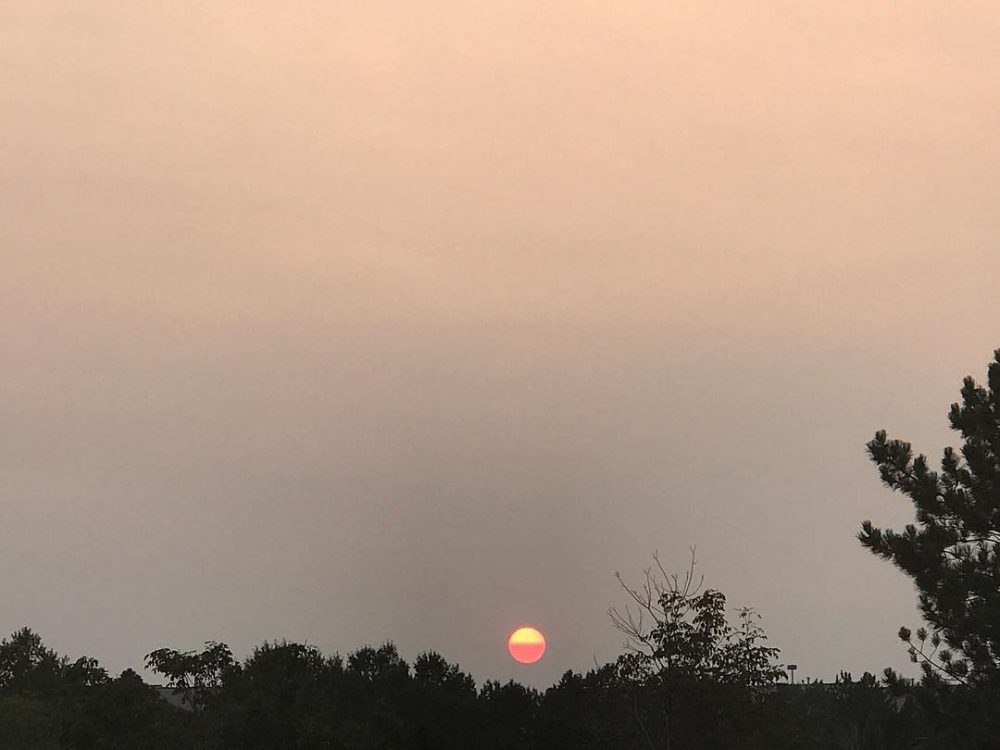 No filter Sun actually looks like this because of smokehellip