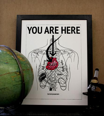 You are in my heart print