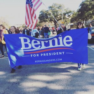 Marching for Bernie today at the mlkday parade in Austinhellip