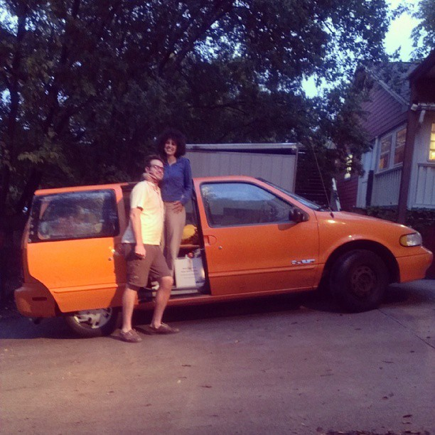 the orange van