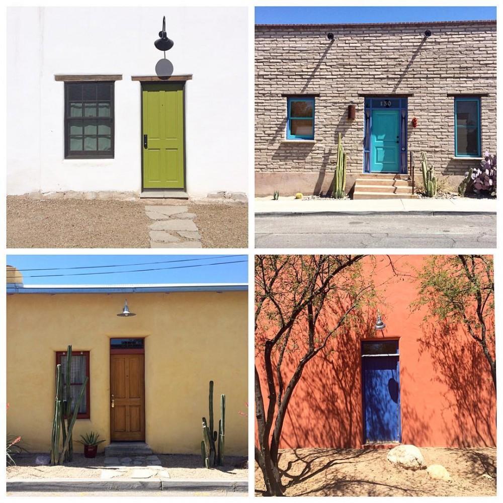 The doors of the Barrio Viejo Tucson Arizona