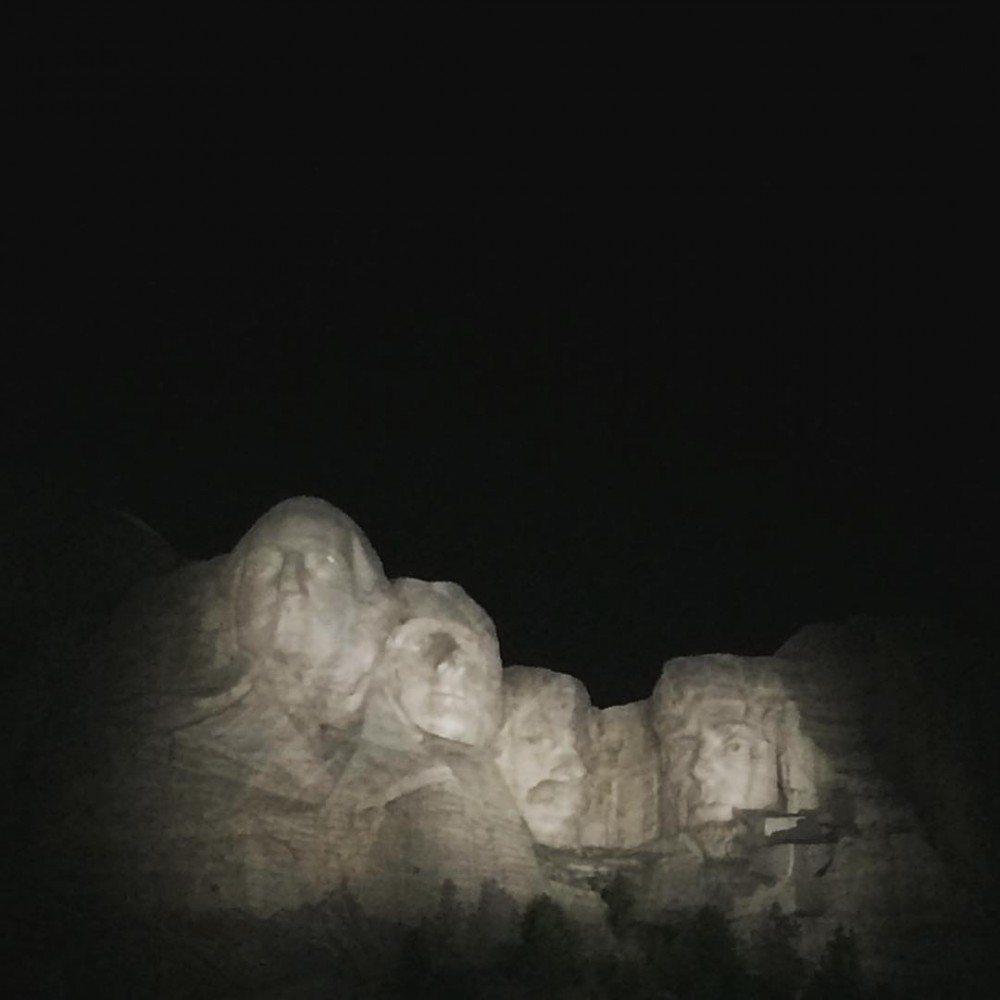 Rolled into MountRushmore right before they turned off the spotlights!hellip