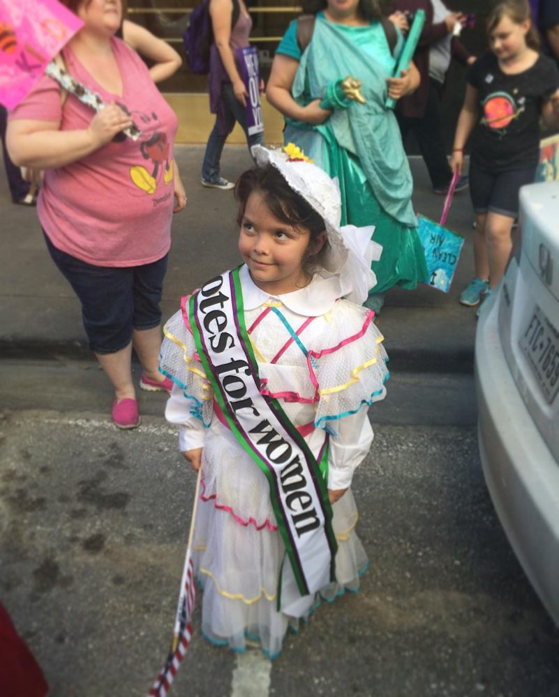 WomensMarchAustin  Mini suffragette