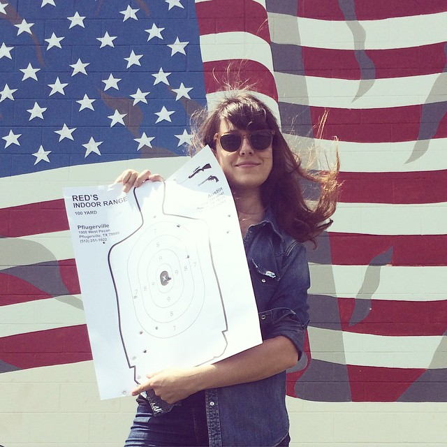 I did the most American thing I could do today: guns. This was the first time I ever shot a gun, and I can tell you that I still don't want to own one. Ever. #IndependenceDay #FourthofJuly #America