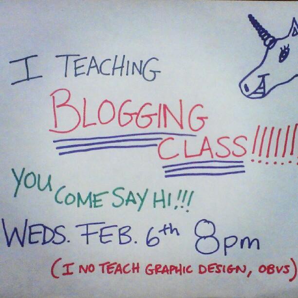Hipstercrite blogging class