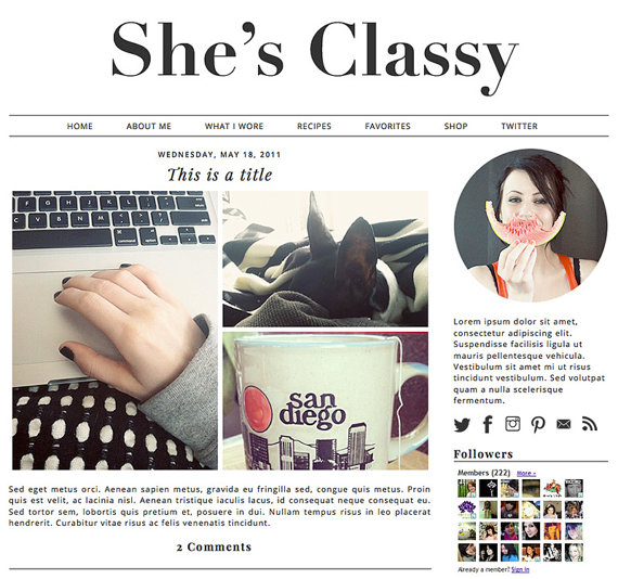 minimalist wordpress template