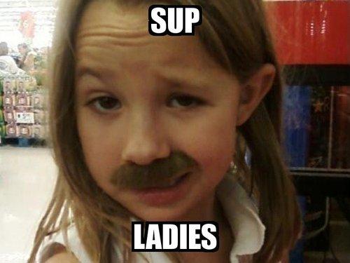 girl-mustache