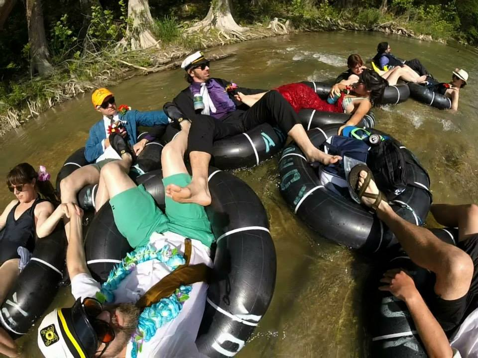 tubing Guadalupe River Texas