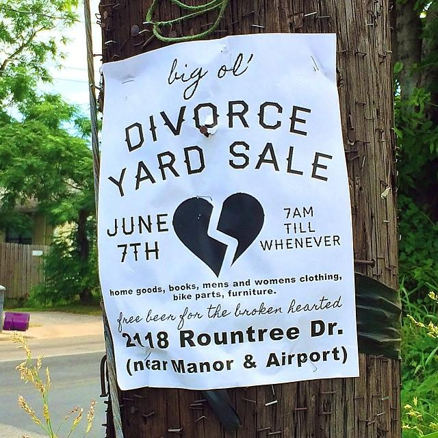 divorce yard sale austin