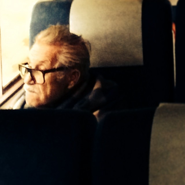 old man on the train