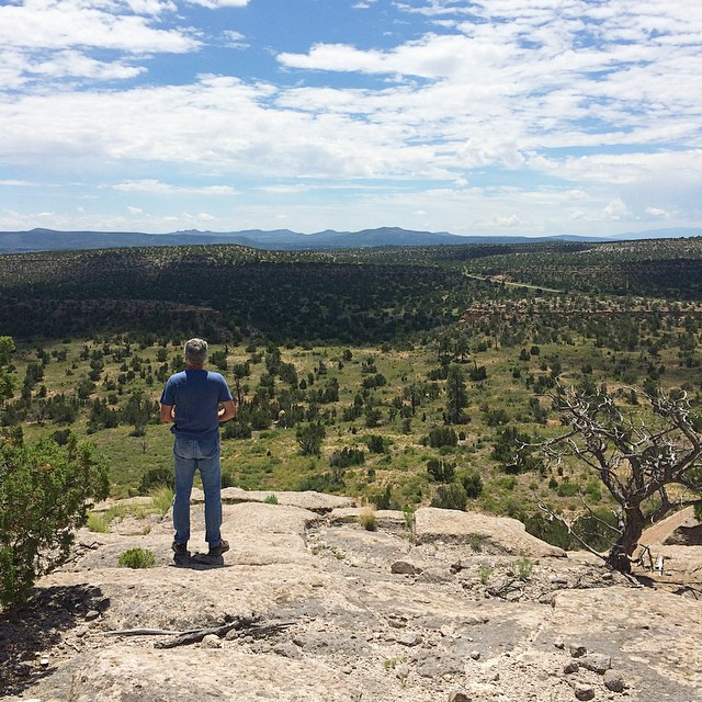Dad staring out at Bandelier National Monument // I try to take road trips with both my mom and my dad each year; I so look forward to these trips. <3