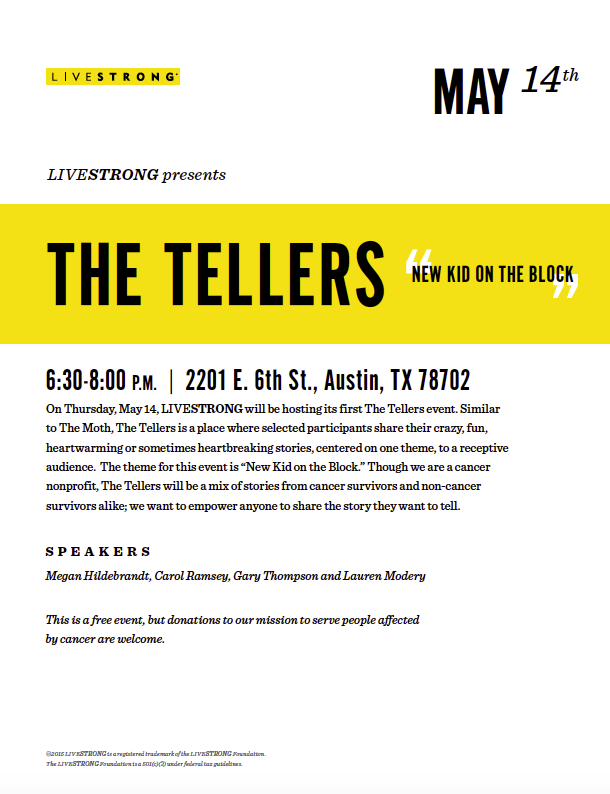 The Tellers LIVESTRONG